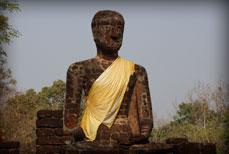 Bouddhas Pierre reconstituée