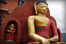 Bouddhas en Terre cuite